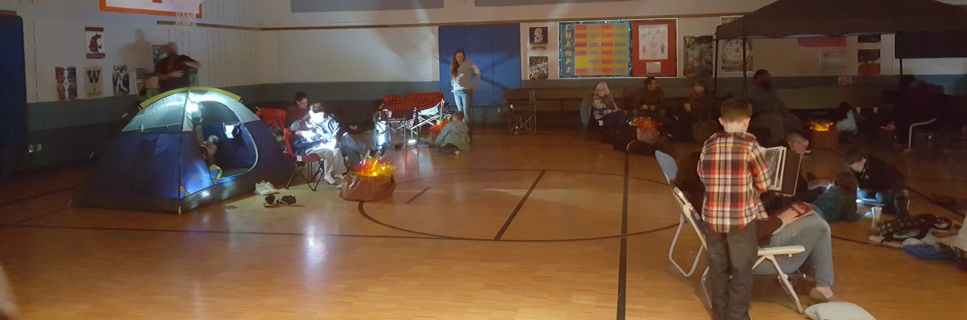 Camp out Reading Event in the Gym
